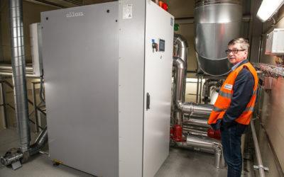 Die Hochtemperatur-Wärmepumpe von Oilon verwertet Abwärme und reduziert damit den Kohlenstoff-Fußabdruck in Jackons expandierender Kunststoffschaumfabrik